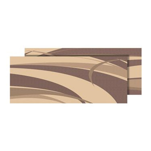 Reversible Patio Mat, Brown/Beige Graphic Design - Size: 9' x 12'