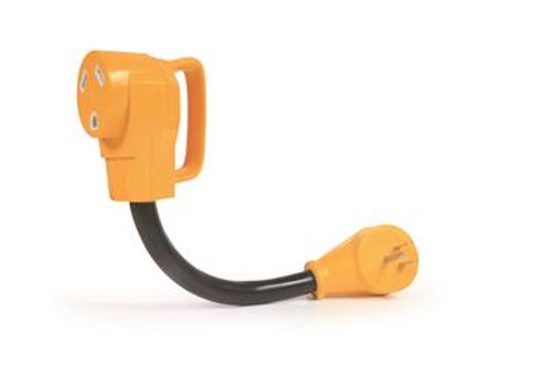 Camco Power Grip Adapter - Type: 15M / 30F