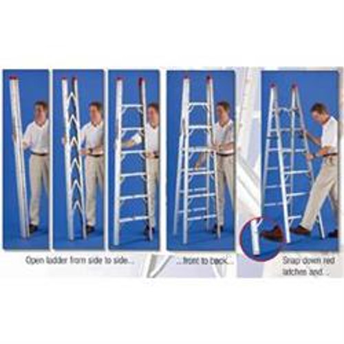 Folding Double-Sided Ladder - Size: 7'