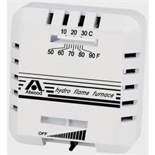Excalibur Series Furnace Thermostat - Color: White