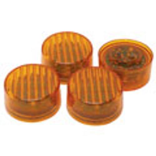 LED Round Sealed Lights 4-Pack - Color: Amber