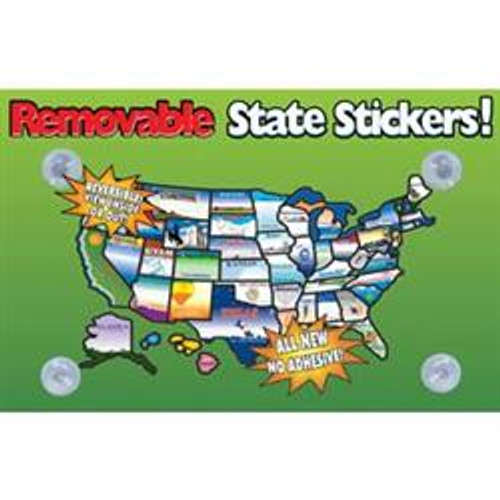 USA Removable State Stickers Map