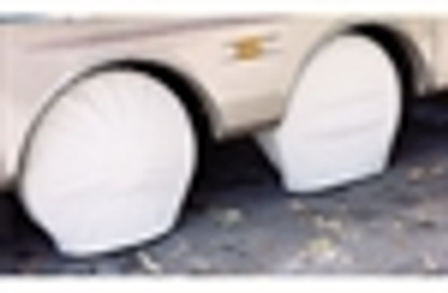 "Ultra Tyre Gards - Polar White, 1 pr. - Size Bus,  40'' - 42'' (fits most bus chassis with 22.5"" wheels)"