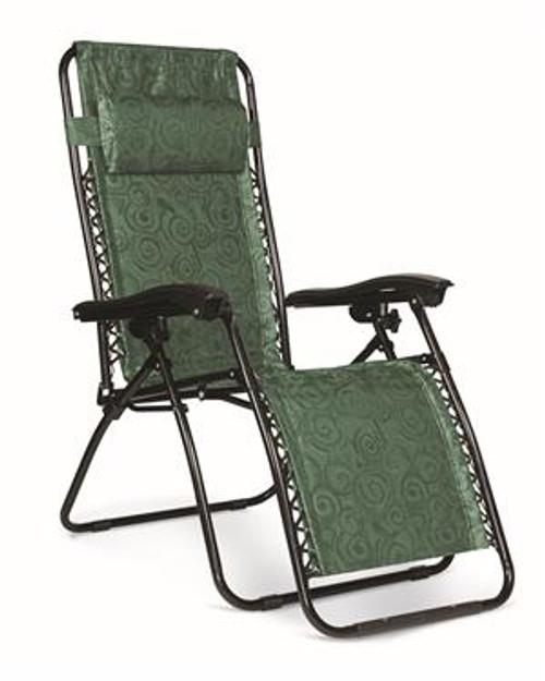 Zero Gravity Chair, Green Swirl