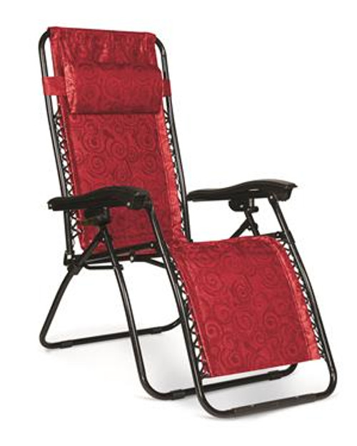 Zero Gravity Chair, Red Swirl