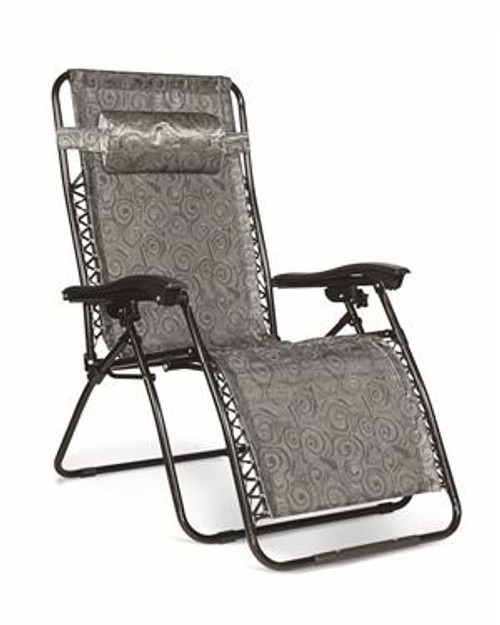 Zero Gravity Wide Reclining Chair, Black Swirl