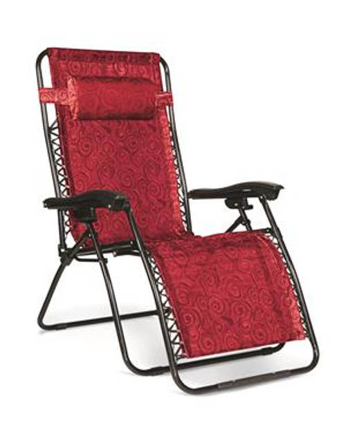 Zero Gravity Wide Reclining Chair, Red Swirl