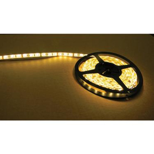 Warm White 16' LED Strip Light Kit 110v/12v RF remote