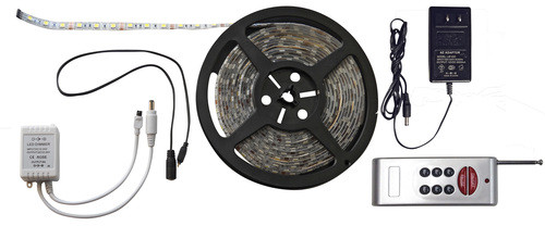 RGB 6.5' LED Strip Light Kit, RF Remote