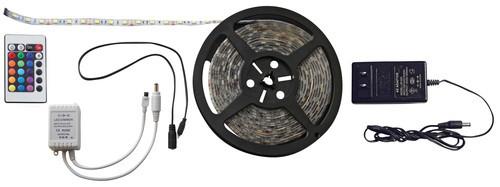 RGB 16.4' LED Strip Light Kit, IR Remote