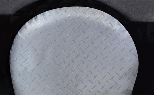 "Vinyl ""Diamond Plated Steel"" Tyre Gards, 1-pair, Fits 40""-42"" Tires"