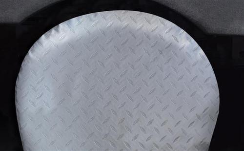 "Vinyl ""Diamond Plated Steel"" Tyre Gards, 1-pair, Fits 43""-45"" Tires"