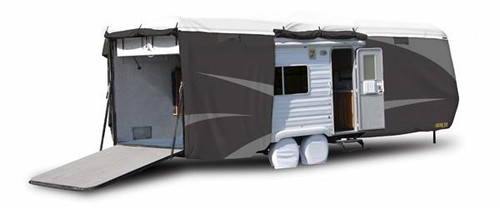 """All Climate +Wind Tyvek DS RV Cover, Toy Hauler TT, 33'7"""" to 37'"""