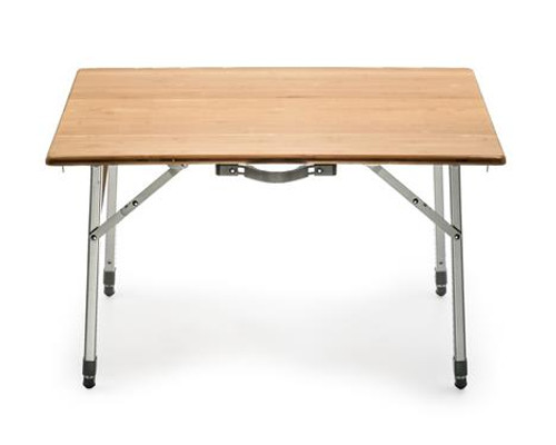 Bamboo Folding Table, Adjustable Height