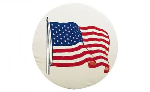 """American Flag Spare Tire Cover, Size J - 27"""""""