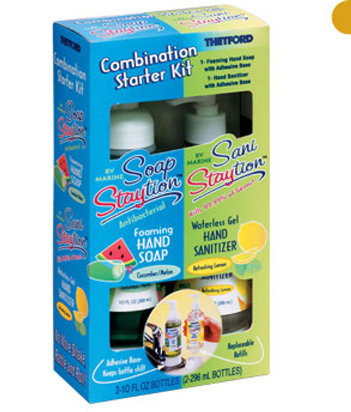 Staytion Combination Starter Kit, Soap + Sanitizer