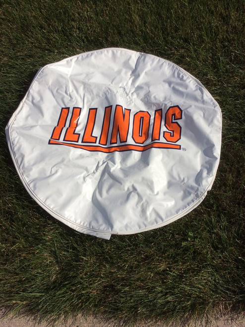 Collegiate Spare Tire Cover, Illinois, Size E10