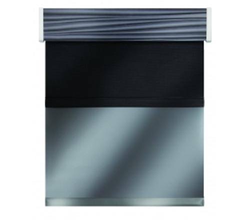 "Impulse Roller Shade and Valance Impulse All-in-One; 2 Roller Shades & Valance, Manual, Width: 13""-24"""