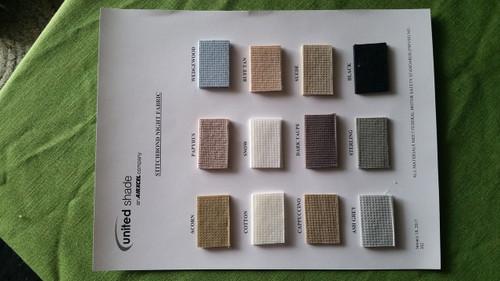 Custom Pleated RV Day|Night Shades, Night Fabrics