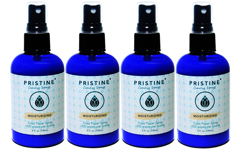 Pristine Toilet Paper Spray / RV-Safe Alternative to Wet Wipes (4-Pack)