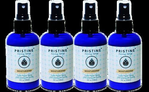 Pristine Toilet Paper Spray / RV-Safe Alternative to Wet Wipes (4-Pack)
