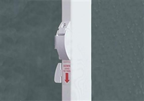 Half & Half Fiesta/Spirit Awning Arm Set, Straight Sides, Polar White
