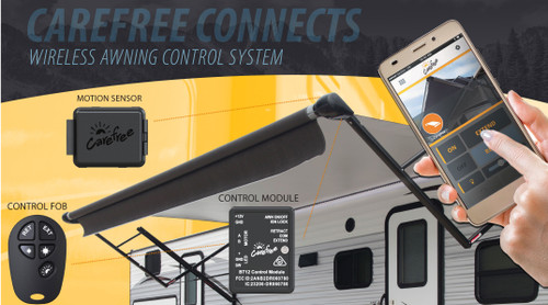 Awning Wireless Upgrade Kit with Auto Retraction & Remote