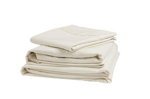 Adjustable Microfiber Sheet Set, Ivory, King, Narrow King