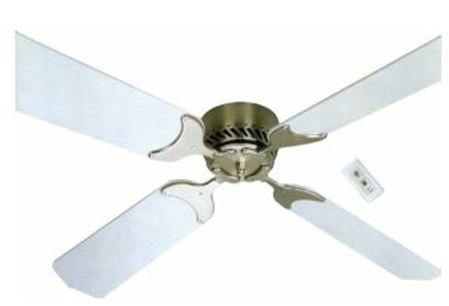 "36"" 12-volt Ceiling Fan, Oak/Cherry reversible blades"