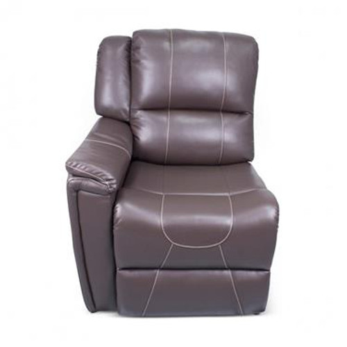 Modular Recliner Chair, RH armrest, Majestic Chocolate PolyHyde