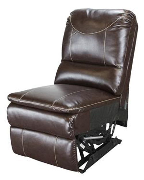 Modular Recliner Chair, Armless, Majestic Chocolate PolyHyde