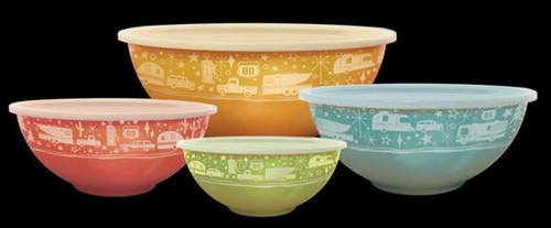 Nesting Kitchen Bowls, set of 4 with lids