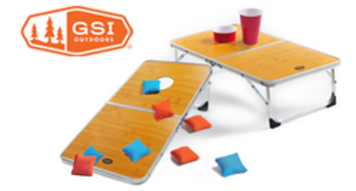 Portable Cornhole Table Set & Game