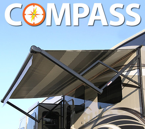 12' MADE-TO-ORDER Compass Power Patio Awning, Complete