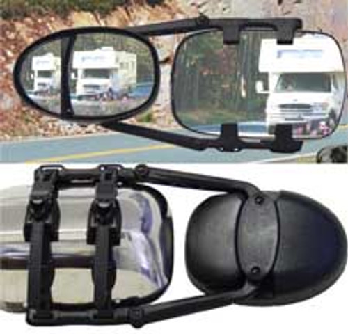 Dual Head Ratchet Clip-on Towing Mirror