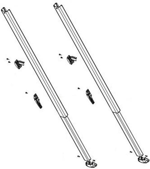 Fiesta/Spirit Awning Arm Set Component, Universal Straight Sides, Black