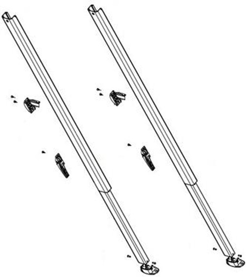 Fiesta/Spirit Awning Arm Set Component, Long Straight Sides, Black