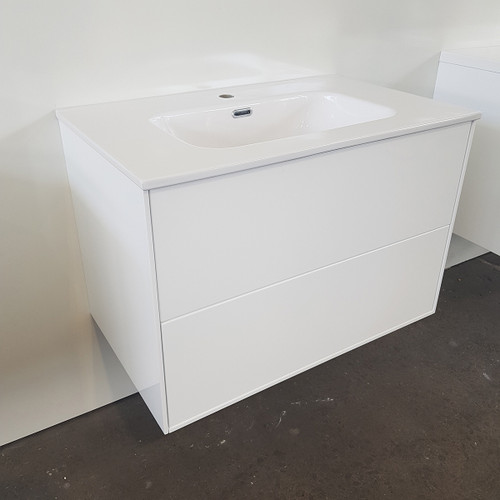 White Gloss Vanity & Basin