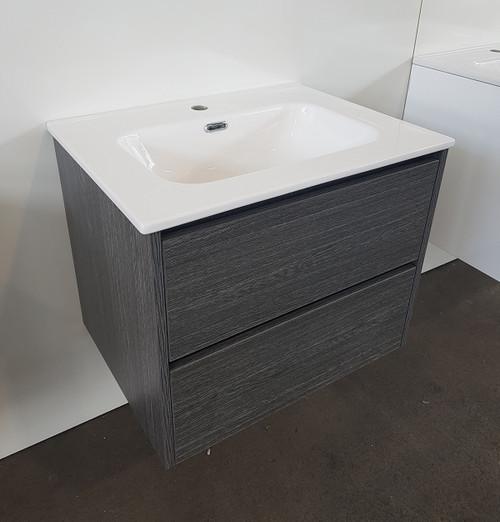 Charcoal Timber Vanity & Basin