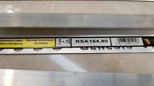 RGA-154.80 ALUM 2.5M RAMP 15mm