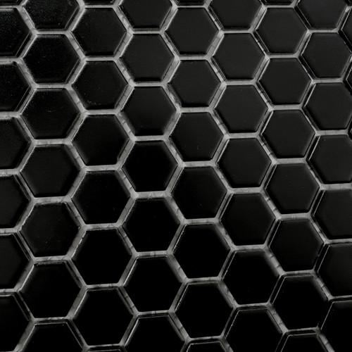Black Matt Hexagon Mos 23 mm