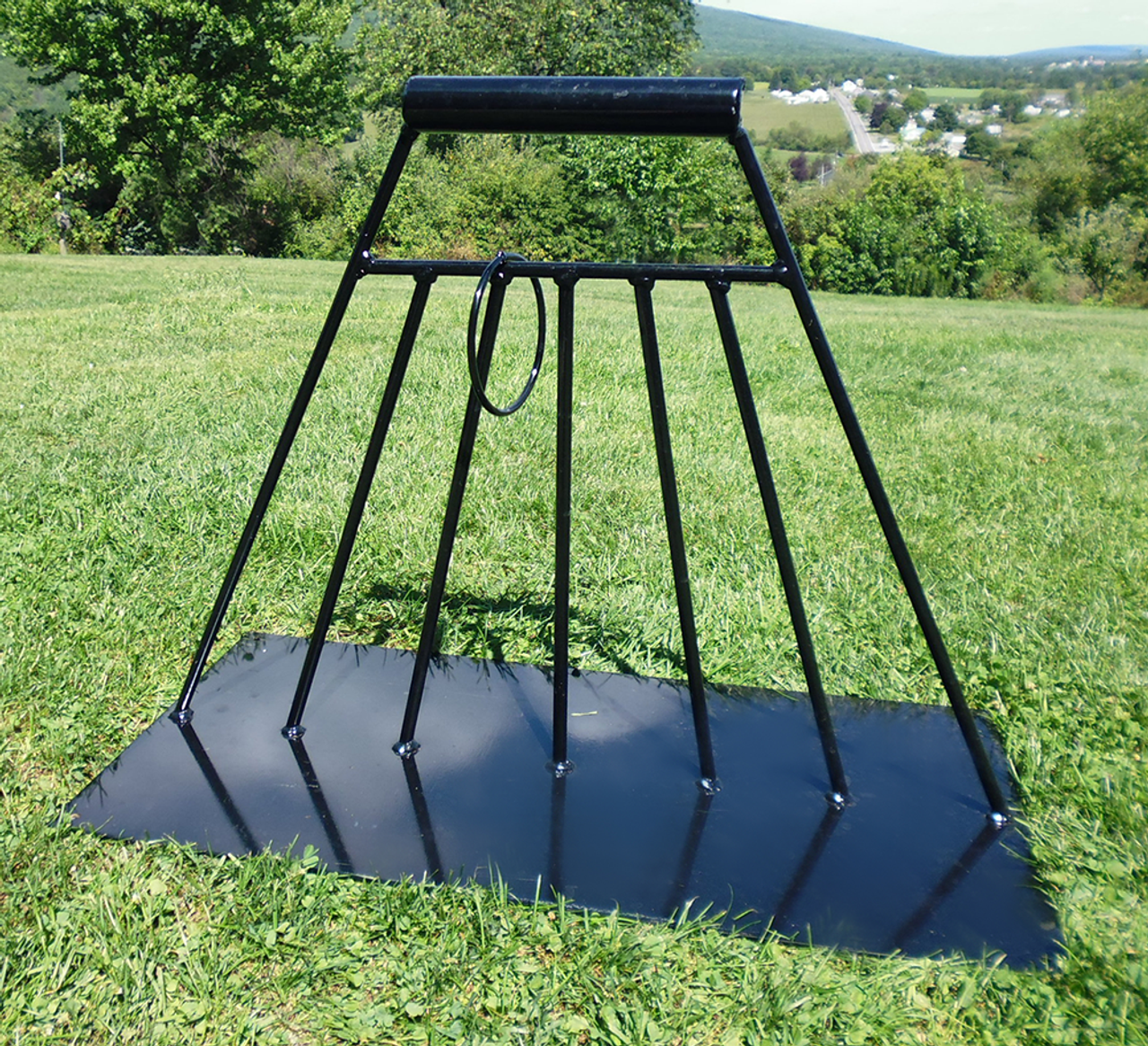 powder coated falconry  equipment: metal NEW indoor double bow perch.