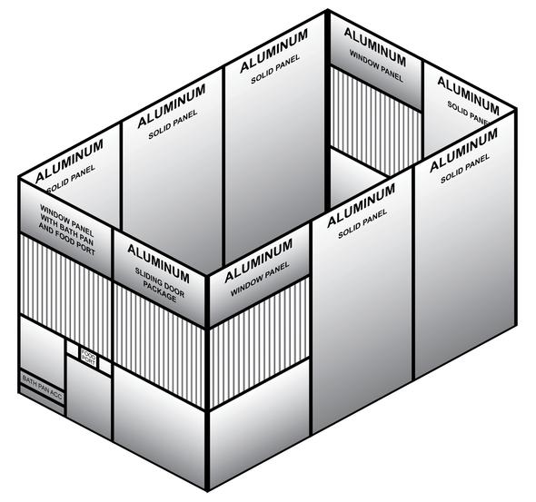 Aluminum Mews (8FT X 12FT X 8FT)