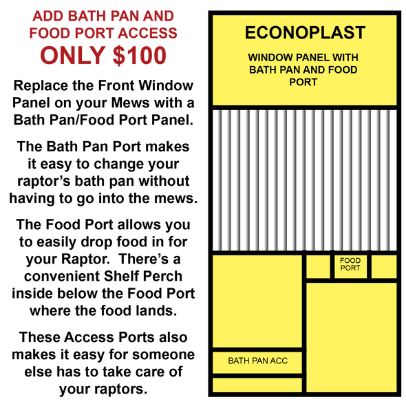 Econoplast Mews Add-on for 8FT X 8FT X 8FT