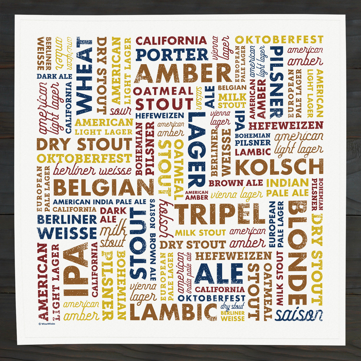 Beer Types Bar Towel