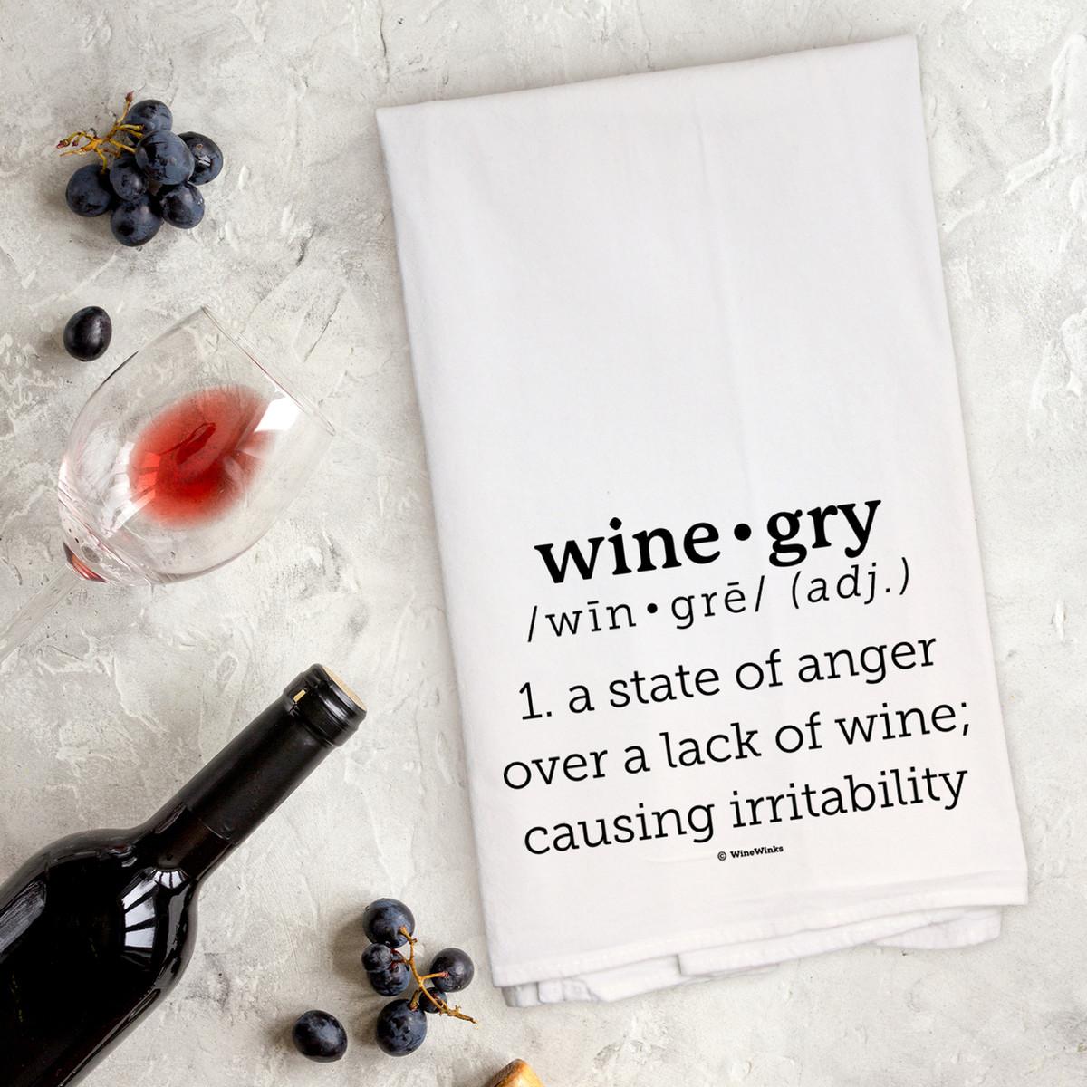Wine-gry Kitchen Towel