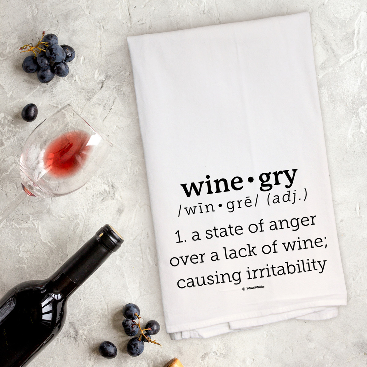 Wine-gry Kitchen Towel