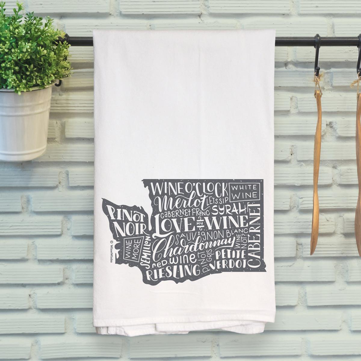Washington Love My Wine Kitchen Towel
