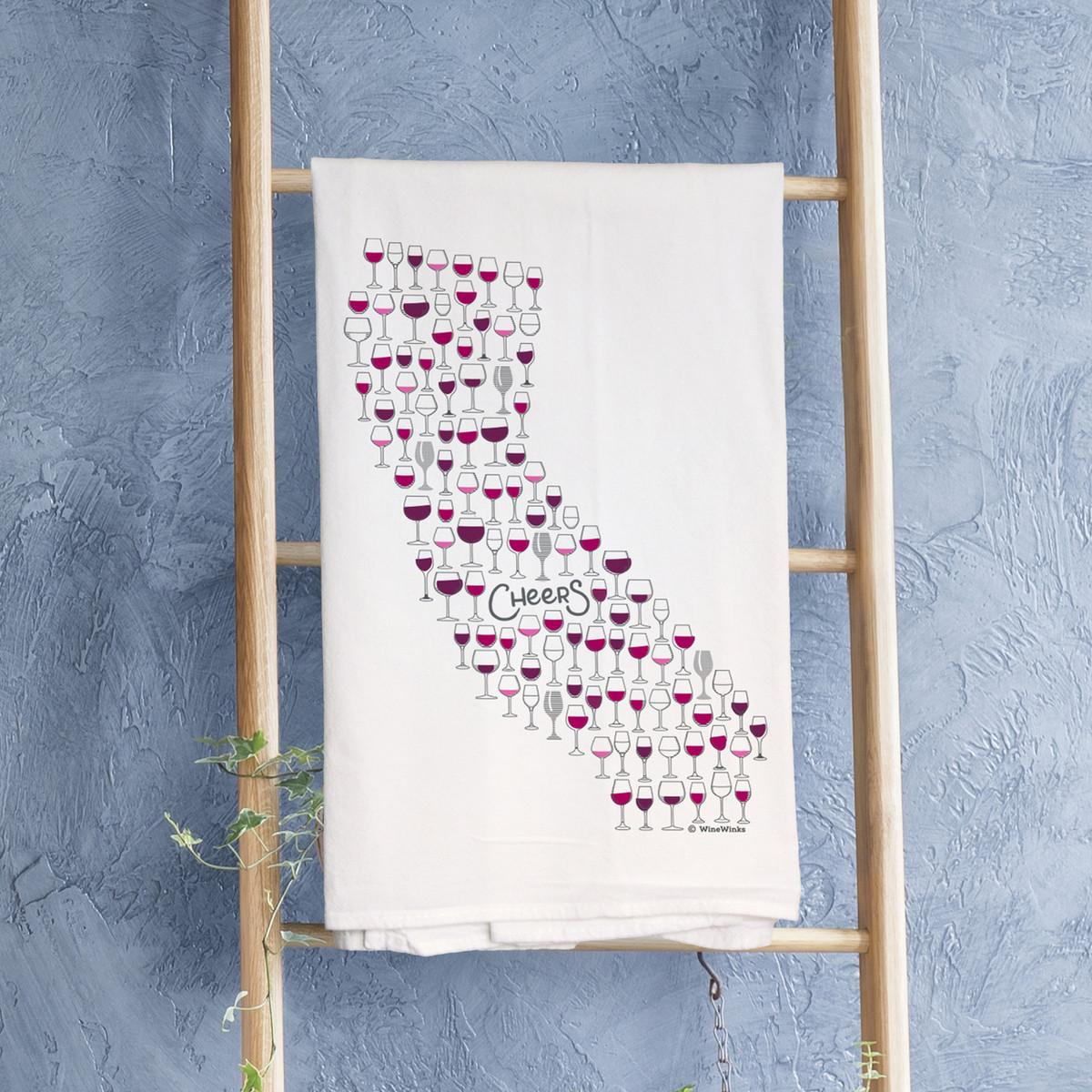 California Cheers Kitchen Towel