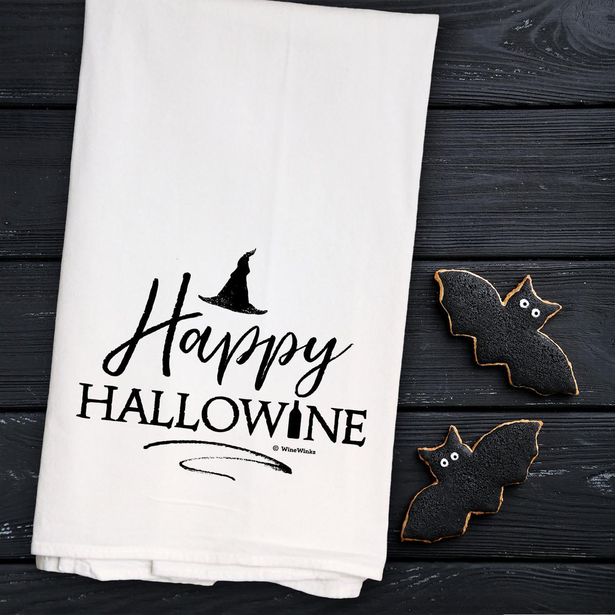 Happy Hallowine Kitchen Towel